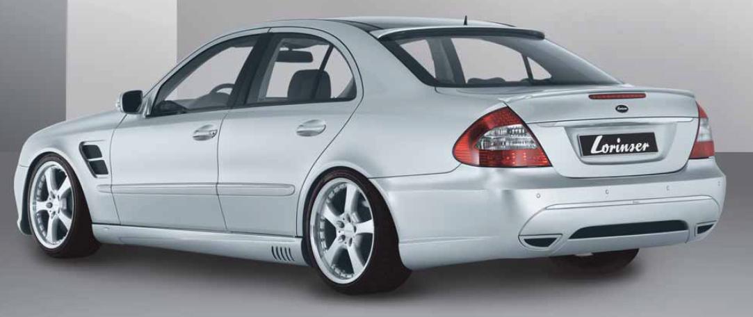 lorinser f01 rear bumper spoiler for mercedes benz s class w220 rh germantunerwarehouse com Mercedes W221 Mercedes W230