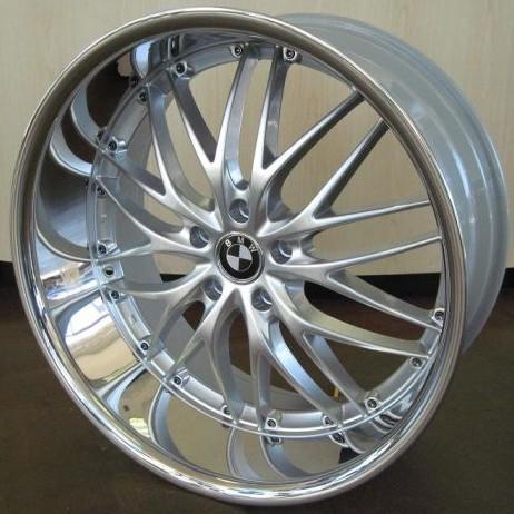 BMW WHEELS RIM 750i 750Li 760i 760Li X5 X6 M Silver Chrome Lip 22