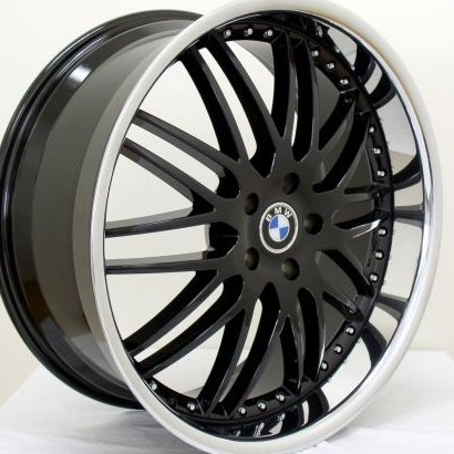 BMW WHEELSRIM E E E Ci I M M Black Chrome Lip - Bmw 645ci wheels
