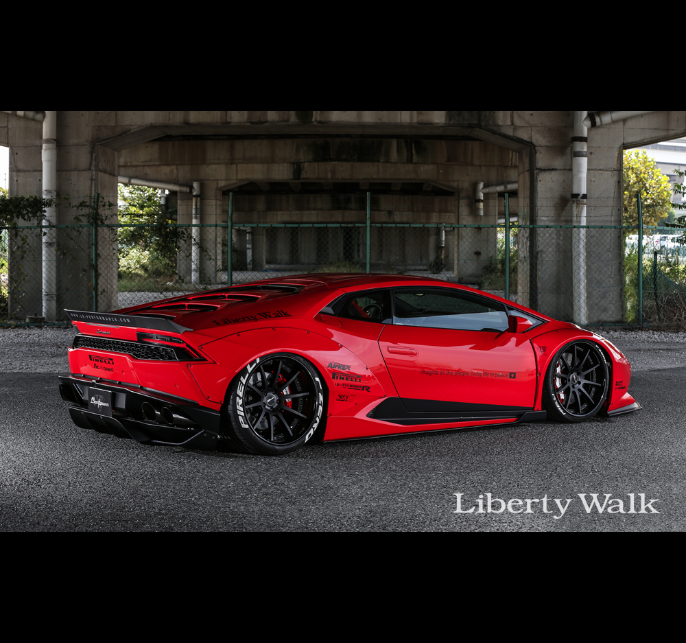 liberty walk lb performance lamborghini huracan body kit ver 1 cfrp. Black Bedroom Furniture Sets. Home Design Ideas