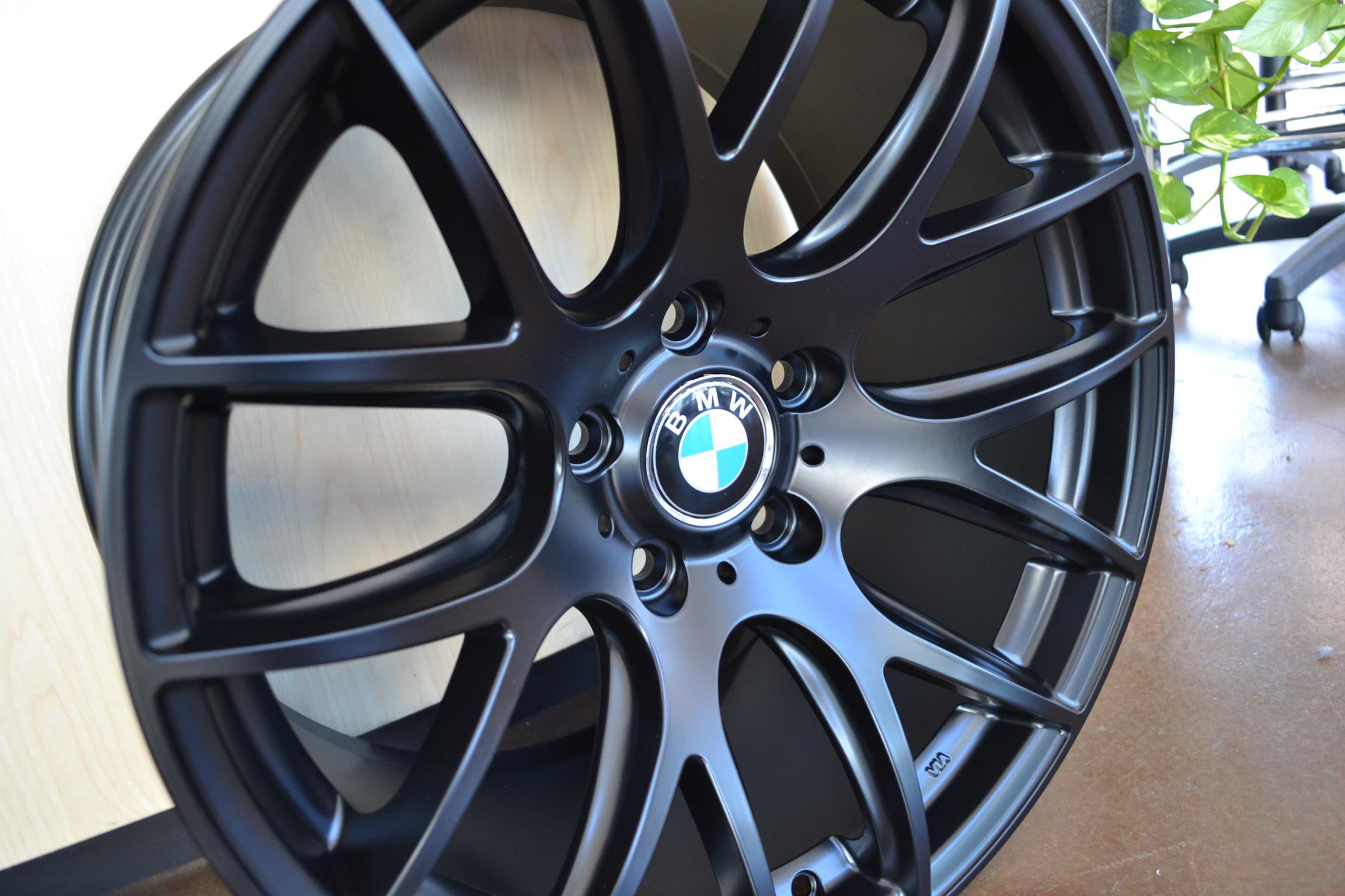 bmw wheels rim 325i 325xi 325ci e46 e90 m3 matte black 18. Black Bedroom Furniture Sets. Home Design Ideas