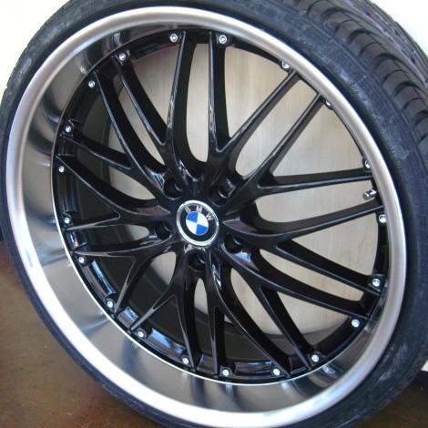 Bmw Wheels Rim 325i 325xi 325ci E46 E90 M3 Black W Polished Lip 20