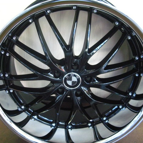 Bmw Wheels Rim 740i 740li 745i 745li E65 E66 Black Chrome Lip 22