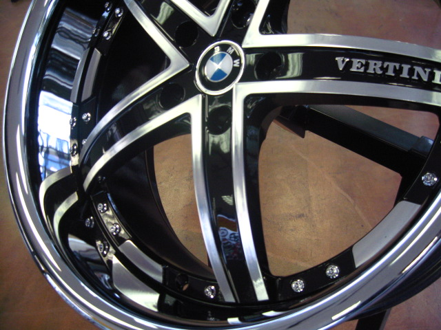 Bmw Wheels Rim E85 E89 Z4 Z8 335i 335d 335xi Diamond Cut Black Inner Spokes Chrome Lip 19