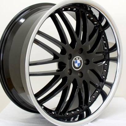 Bmw Wheels Rim E60 E63 E64 645ci 650i M5 M6 Black Chrome Lip 22
