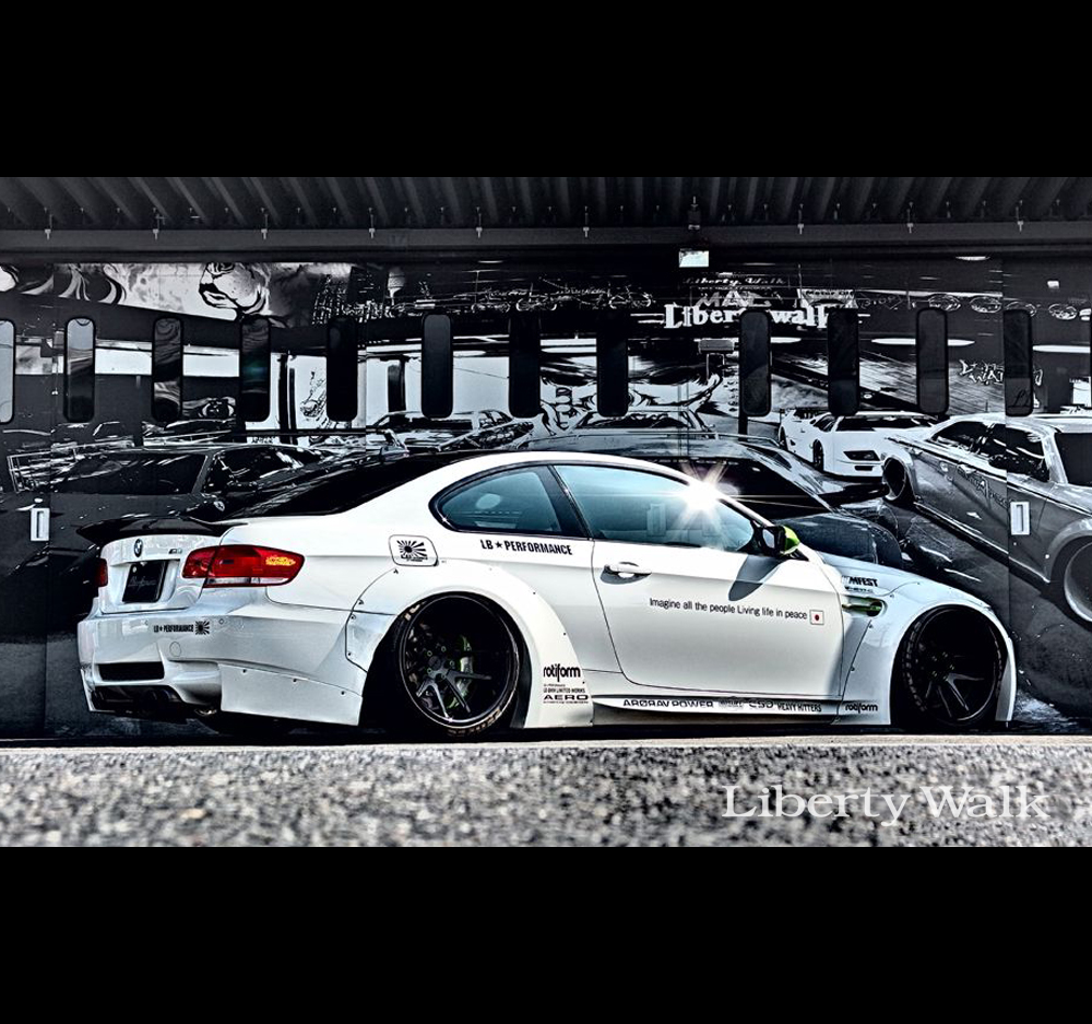 Liberty Walk Lb Performance Bmw M3 E92 Works Body Kit Ver 2 Set Frp